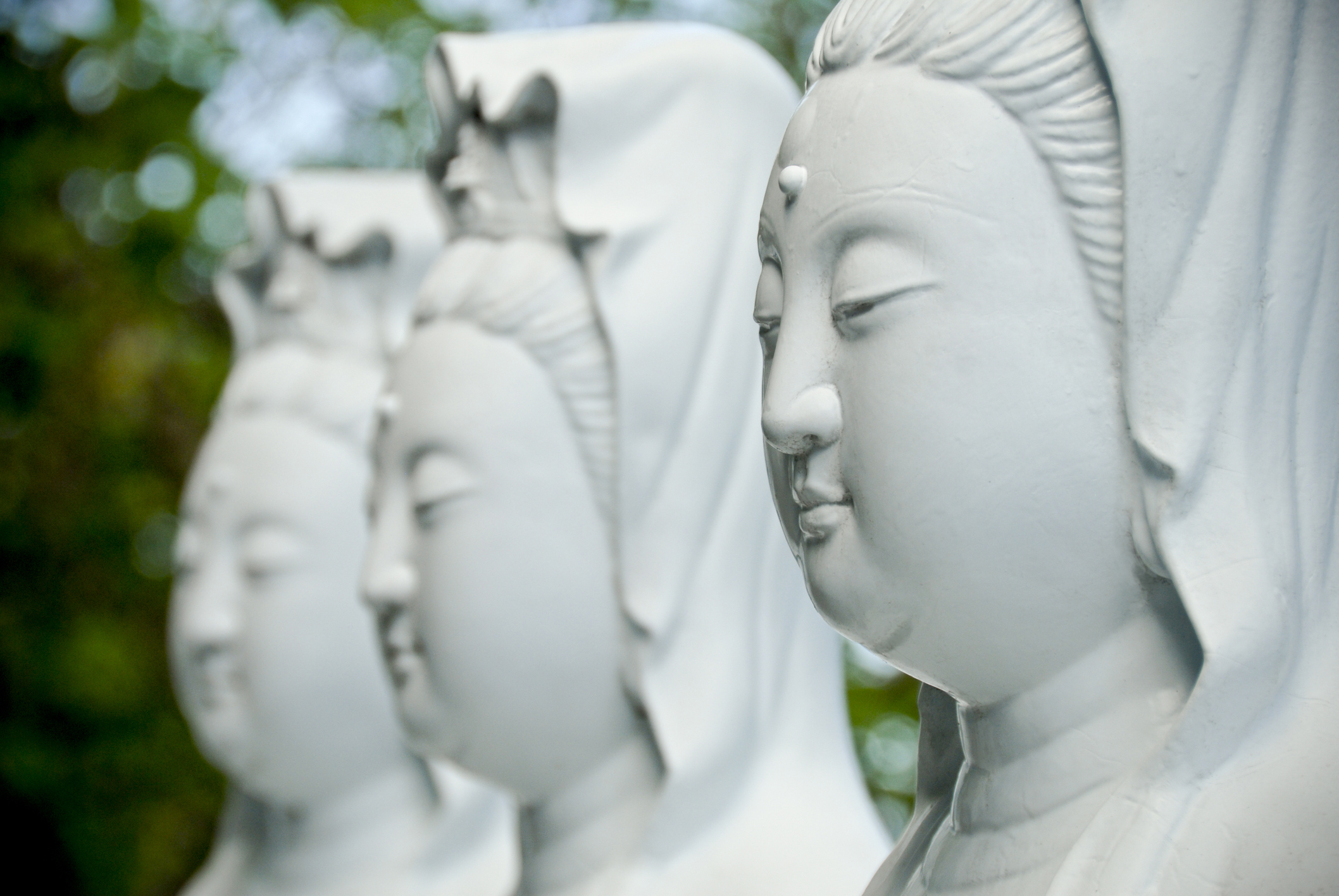 Close up of a series of female buddhist statues as found in Taiwan.New to iStockphoto Click the badge below to sign up now: